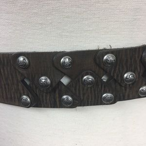 Justin Made in the USA Boho Leather Belt Size 36